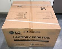 LG WDP4K Laundry Pedestal Storage Drawer Black Stainless Steel New