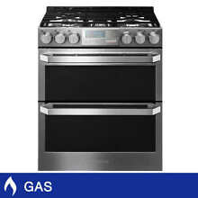 LG SIGNATURE 6 9CuFt Gas Double Oven Slide In Range with ProBake Convection