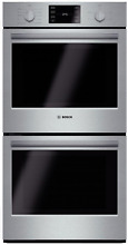 Bosch HBN5651UC 500 Series 27  Double Electric Wall Oven in Stainless Steel