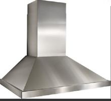 Best KEX4248SS Wall Mount Chimney Hood Stainless Blower Not Included 48 Inch