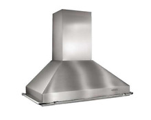 Best KEX22248SS Wall Mount Chimney Hood Stainless Steel Blower Not Included 48