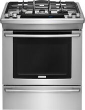 Electrolux EW30DS80RS 30  Dual Fuel Slide In Convection Range   Stainless   NIB