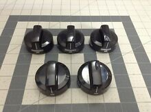 Whirlpool Range Oven Burner Knobs  Set of 5  W10160649 W10134131 W10134134