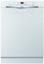Bosch SHE3AR72UC Ascenta Series 24 Inch Full Console Dishwasher in White