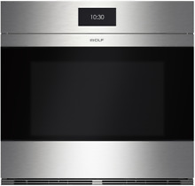 Wolf SO30CMS  M Series 30 Inch Wall Oven with 5 1 cu  ft  Capacity Stainless