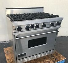 Viking Professional VGIC3656BSS 36  Gas Range Stainless Oven W  6 Open Burners