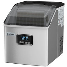 Stainless Steel Ice Maker Machine Countertop 48Lbs 24H Self Clean Silver