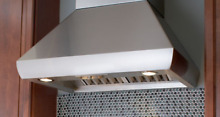 Wolf PWC542418 Wall Mount 54 Inch Chimney Range Hood NO BLOWER Stainless Steel