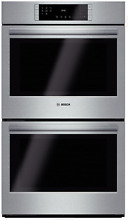Bosch HBL8651UC 800 Series 30  Double Electric Wall Oven Stainless with Ecoclean