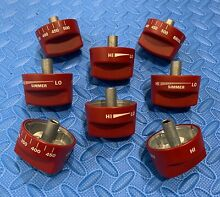 WOLF RED KNOB SET  8 piece  FOR 48  RANGES  see pics