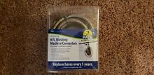 NEW  6 Ft Washing Machine Connectors Set 4 Ply Braided Stainless Steel