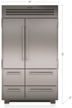 Sub Zero PRO4850 48  Smart Built In Side By Side Refrigerator Freezer Stainless