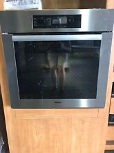 Miele H4844BP 30 Single Electric Wall Oven with True European Convection
