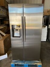 Samsung RS25H5111SR 36 Inch Freestanding Side by Side Refrigerator  Stainless St