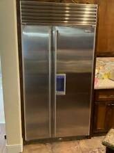 Subzero 685 SS Side By Side Built in water and Ice in door Refrigerator 42