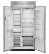 KitchenAid 42  Stainless Steel Built In Side By Side Refrigerator KBSD602ESS