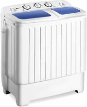 PORTABLE Mini Compact Twin Tub Washing Machine 17 6 lbs Washer Spain Spinner