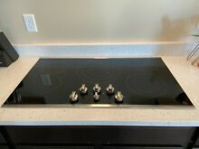 GE Profile Series PP7036SJSS 36  Built In Electric Cooktop   Full Warranty