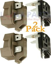 2 Pack 4387913 for Whirlpool Refrigerator Relay and Overload PS371538 AP3108669
