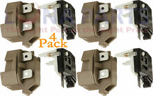 4 Pack 4387913 for Whirlpool Refrigerator Relay and Overload PS371538 AP3108669
