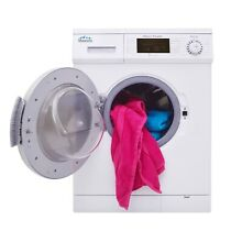 All in One 1 6 cu ft  Compact Combo Washer and Electric Dryer in White