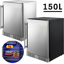 Built in Beverage Cooler Refrigerator 5 3 Cu  Ft Freezer Stainless Steel