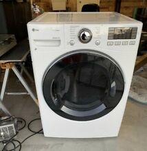 LG 7 4 cu  ft  Smart Stackable Front Load Electric Dryer with TurboSteam White
