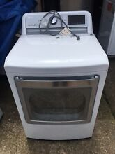 LG DLGX7601WE 7 3 cu  ft  Gas Dryer with Turbo Steam in White
