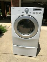 LG Electric Dryer with Pedestal DLE2250W   White Front Load  LOCAL PICK UP ONLY