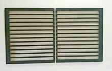 Pair of Jenn Air Grill Grates w Glass Covers for Downdraft Cooktop Range   NOS