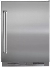 Sub Zero UC24ROPHRH 24  Pro Outdoor Built in Refrigerator Stainless Steel
