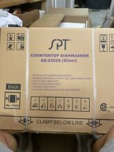 SPT Countertop dishwasher SD 2202S  silver  Holds 6 place settings  New in Box