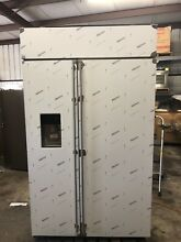 GE Monogram ZISS480DKSS 48 Inch Built In Counter Depth Side by Side Refrigerator