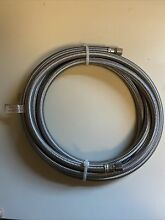 Eastman 0247028 Stainless Steel Braided Ice Maker Connector Hose 10  X 1 4