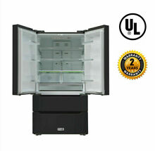 Thor Kitchen 36  Wide 4Door french Door Refrigerator Fridge 22 5 cuft Black S S