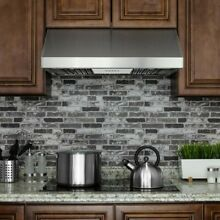 30 in  Under Cabinet Range Hood in Stainless Steel with LEDs and Electronic Push