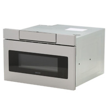 1 2 cu  ft  24 in  Microwave Drawer with Concealed Controls  Built In Stainless