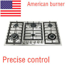 34 inch stainless steel cooktop cooktop 6 burners Natural gas cooktop