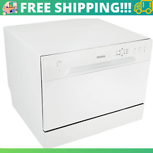 Countertop Dishwasher with 6 Place Settings  6 Wash Cycles and Silverware Basket