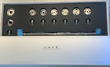GE Cafe Series Brushed Stainless Steel Range Knobs and Handles EUC