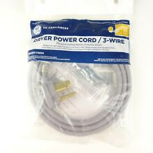 GE Appliance WX09X10004 3 Wire Dryer Power Cord 6  Universal New