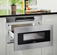 30 in  1 2 cu  ft  950W Sharp Stainless Steel Microwave Drawer Oven  SMD3070ASY