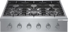 Bosch RGM8658UC 800 Series 36  Gas Slide In Cooktop with 6 Sealed Burners