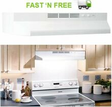 Non Ducted Under Cabinet Ductless Range Hood Insert 36 Inch With Lights White