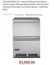 Viking VDUI5240DSS 24  Stainless Steel Under Counter Refrigerator