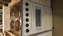 20  white stove with stainless steel top