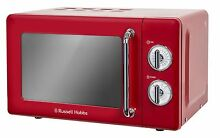 Russell Hobbs RHRETMM705R Red Retro Compact Manual Microwave 17 litre
