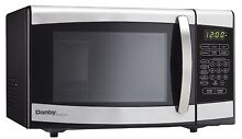 Kitchen Countertop Microwave Stainless Steel w  Digital Clock Dorm Office