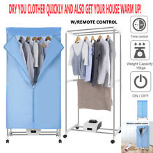 Portable Electric Clothes Dryer Heater Folding Drying Wardrobe Machine W  Remote