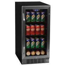 EdgeStar CBR901SG 15 W 80 Can Built In Beverage Cooler with Blue LED Lighting